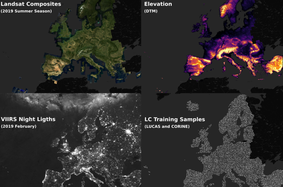 A benchmark dataset for mapping land-cover in Europe